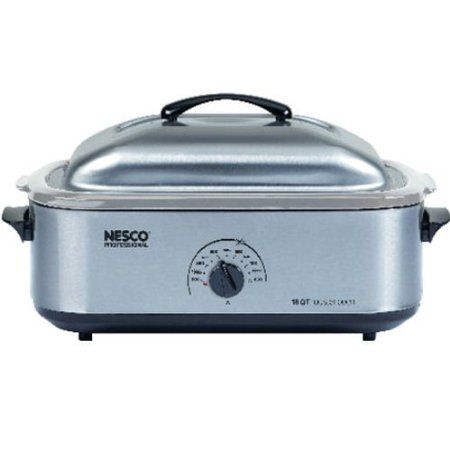 Nesco Stainless Steel Roaster Oven No Lead Leeching To Worry About The Insert Is Stainless Steel This Roaster Ovens Roaster Oven Recipes Electric Roaster