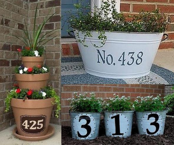 Faire une plaque numéro d'adresse en 2020 | Déco jardin ...