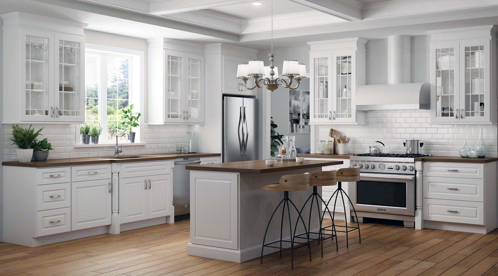 luxury kitchen design ideas white kitchen with wood ...
