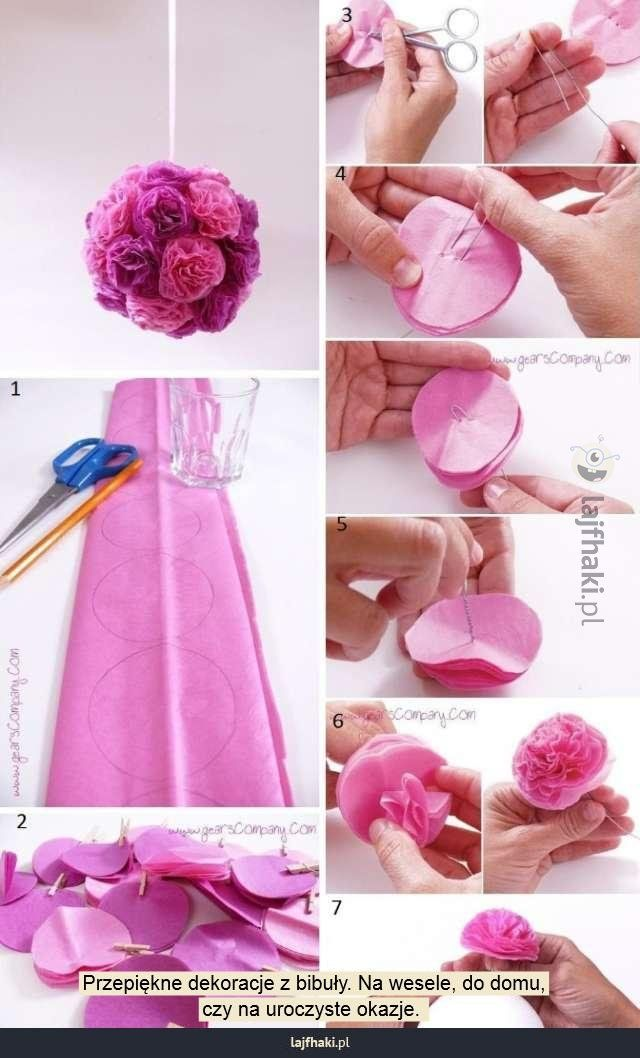 Lajfhaki Pl Lifehacki Nietypowe Porady Zyciowe Paper Flower Backdrop Wedding Yarn Crafts For Kids Diy Wedding Flowers