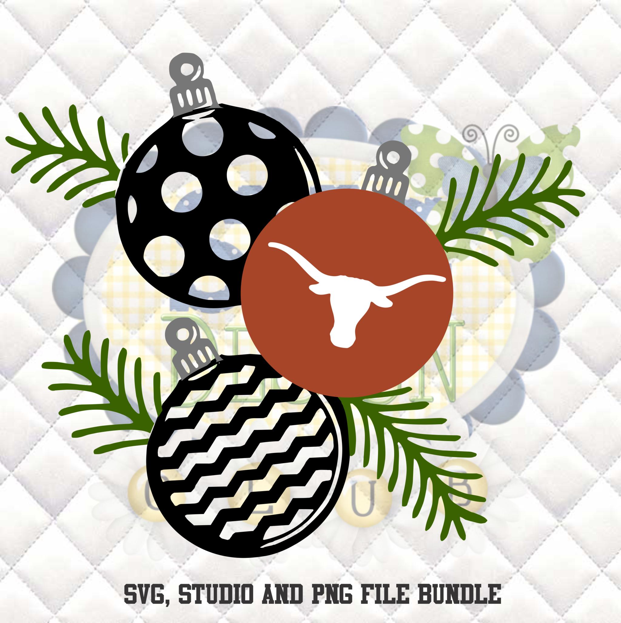 Texas Longhorns Christmas Ornaments SVG, Silhouette studio ...