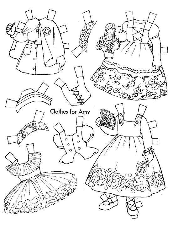 1957 Paper Dolls To Color - Kathy Pack - Picasa Webalbum