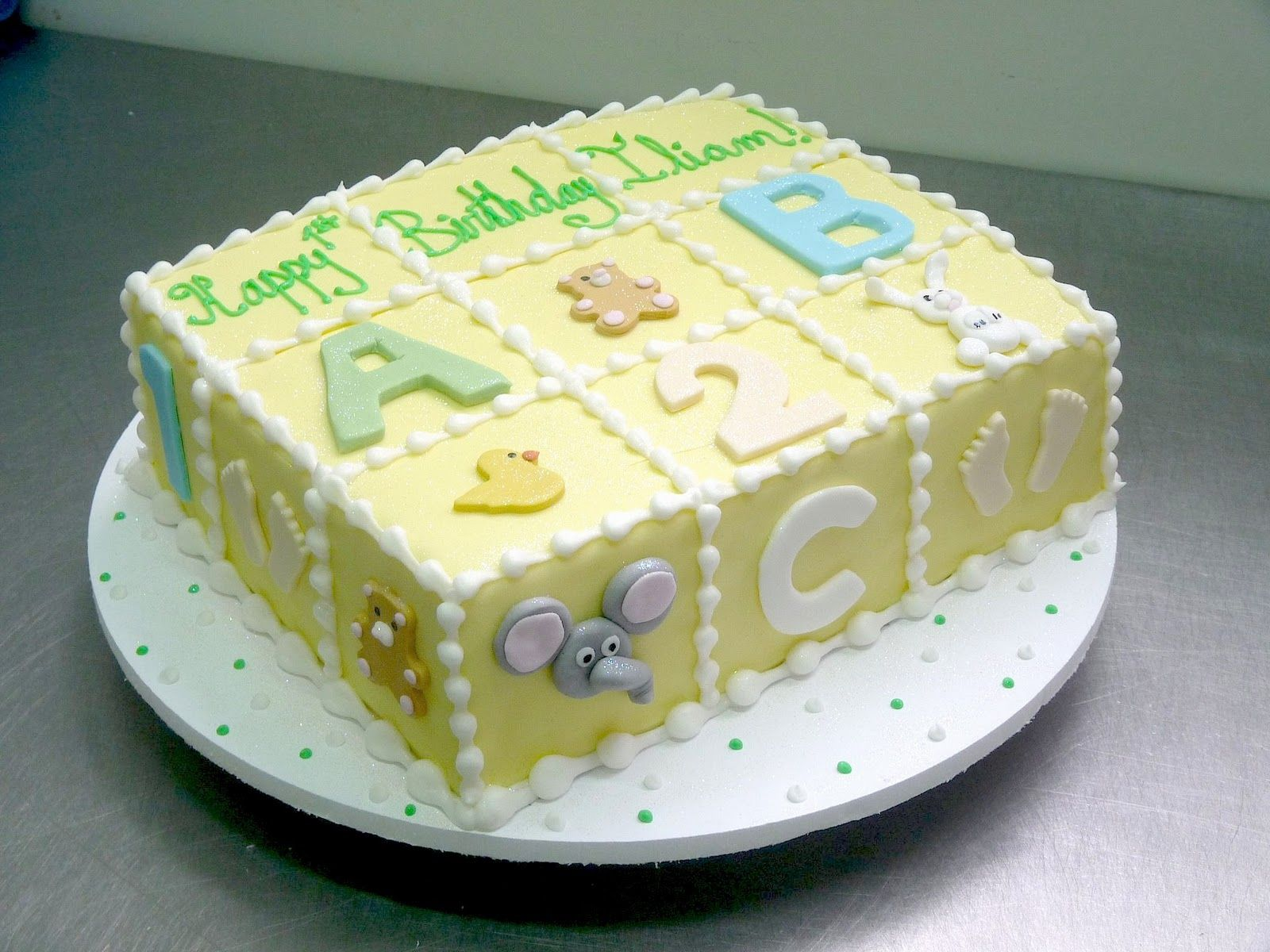 Baby shower cake with letters and numbers cakes baby shower pinterest shower cakes cakes - Easy baby shower cakes for girls ...