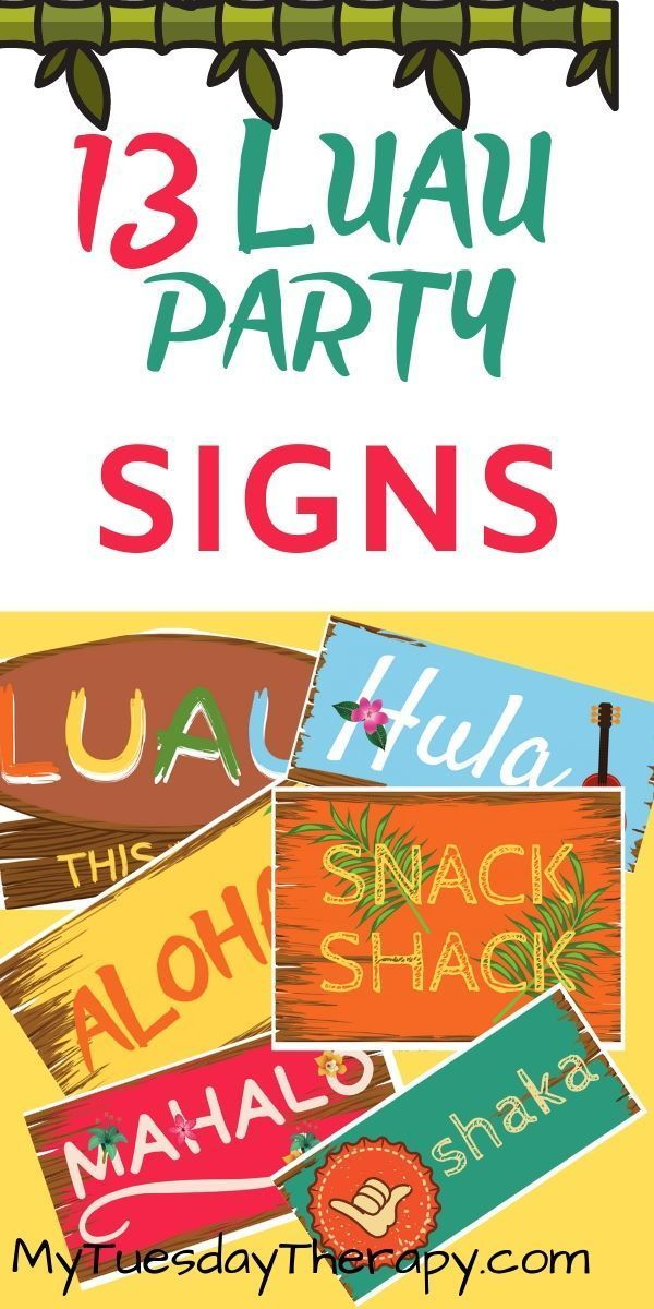 Luau Printables – 50+ Pages of Hawaiian Fun #hawaiianluauparty Easy Luau Party Decorations DIY. Have summer fun by hosting a Hawaiian luau party! Greet the guests with Aloha sign! Display other luau signs to create the warm aloha feeling. #hawaiianluauparty