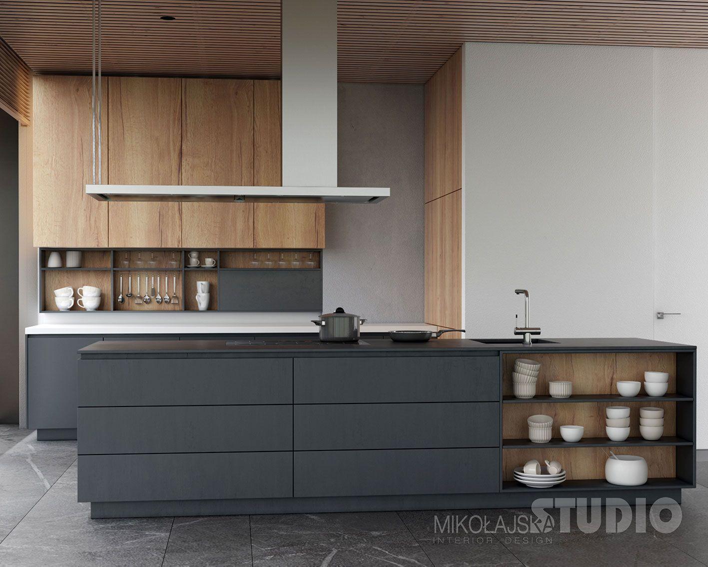 Nowoczesna Wyspa Kuchenna Modern Kitchen Design Kitchen Interior Kitchen Remodel Small