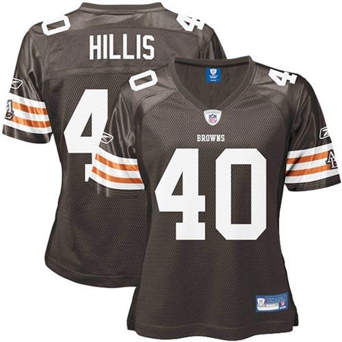 f2522381c76 Reebok Peyton Hillis Cleveland Browns Women's Replica Jersey – Brown ...