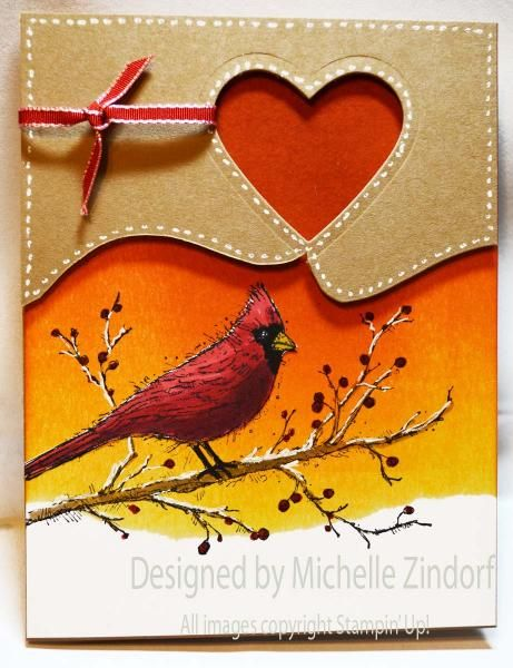 Cardinal Card - MZ by Zindorf - Cards and Paper Crafts at Splitcoaststampers