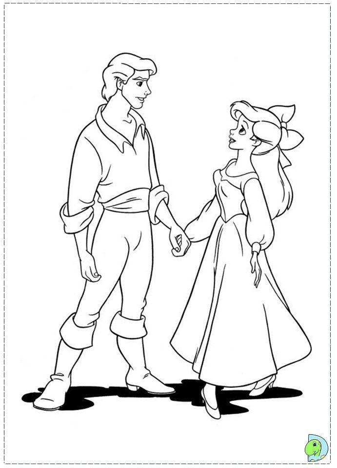 coloriage la petite sirène | Coloring Pages/LineArt-Disney-Little ...