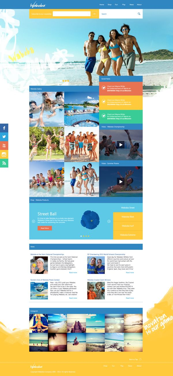Waboba Website by João de Almeida, via Behance
