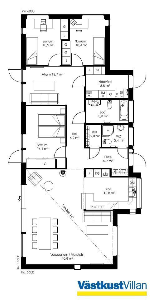 Schwedenhaus eingeschossig SkandiHaus 134 Grundriss Haus