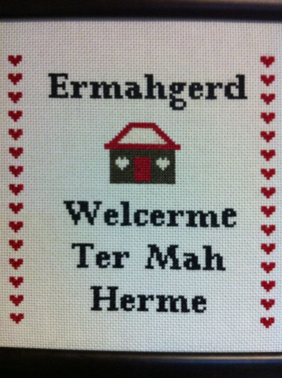 Ermahgerd Cross-stitch Downloadable PDF Pattern | All the LOLs