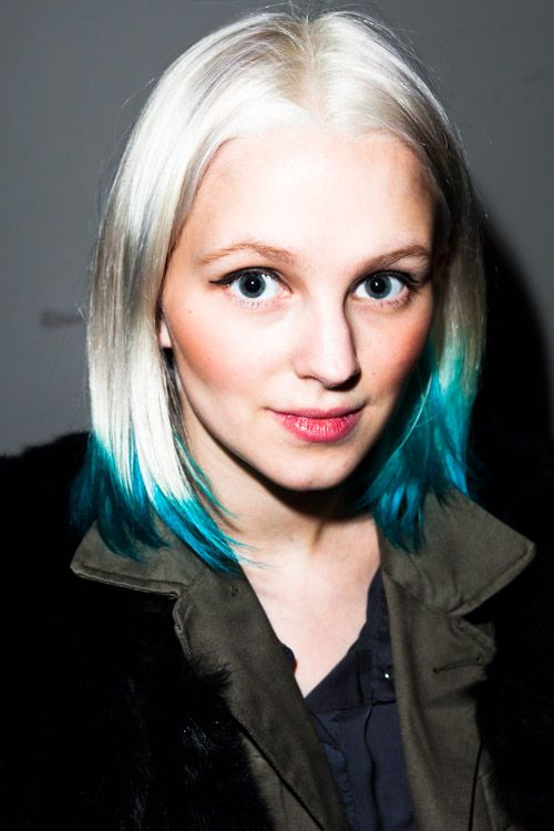 3bfc3206259 bleached + colored hair ---- I want to grow my hair out this way so cute