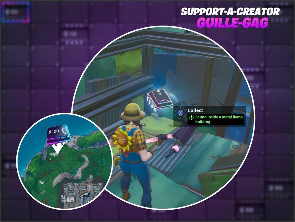 Fortnite Fortbyte 21 Found Inside A Metal Llama Building Location Todays New Fortbyte Challenge Is Fortbyte 21 Found Inside A Meta Fortnite Locations Building
