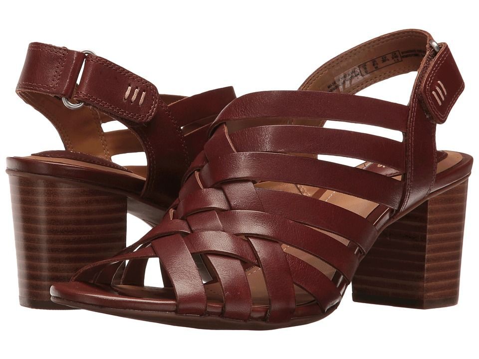 CLARKS. Clark ShoesLeather ProductsWomen's SandalsTan LeatherTansDark Tan LusterClarksChoices