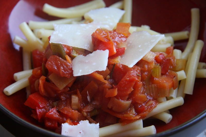 Rezept für Gemüsebolognese aus dem Slow Cooker