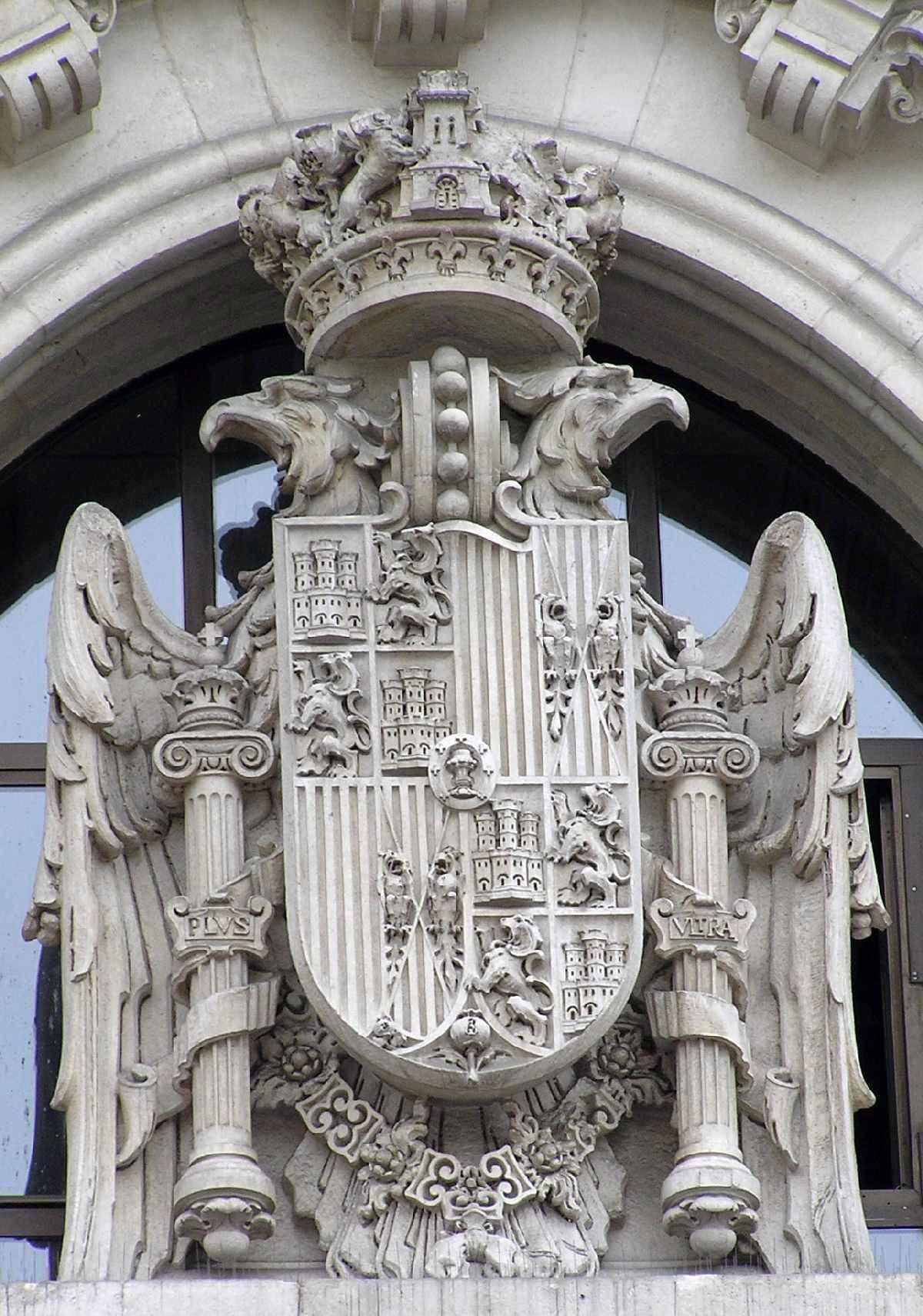 Blasón Del Palacio De Comunicaciones De Madrid Portal