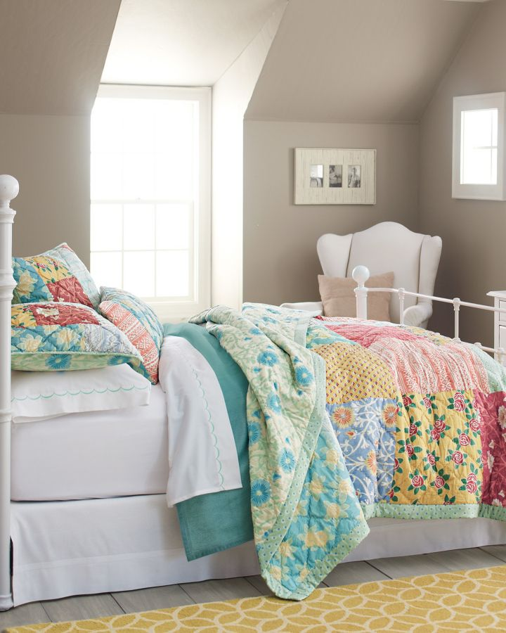 Very Colorful Bedroom: Love The Grey With Pops Of Color! Very Interchangeable And