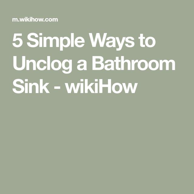Fast Way To Unclog Kitchen Sink