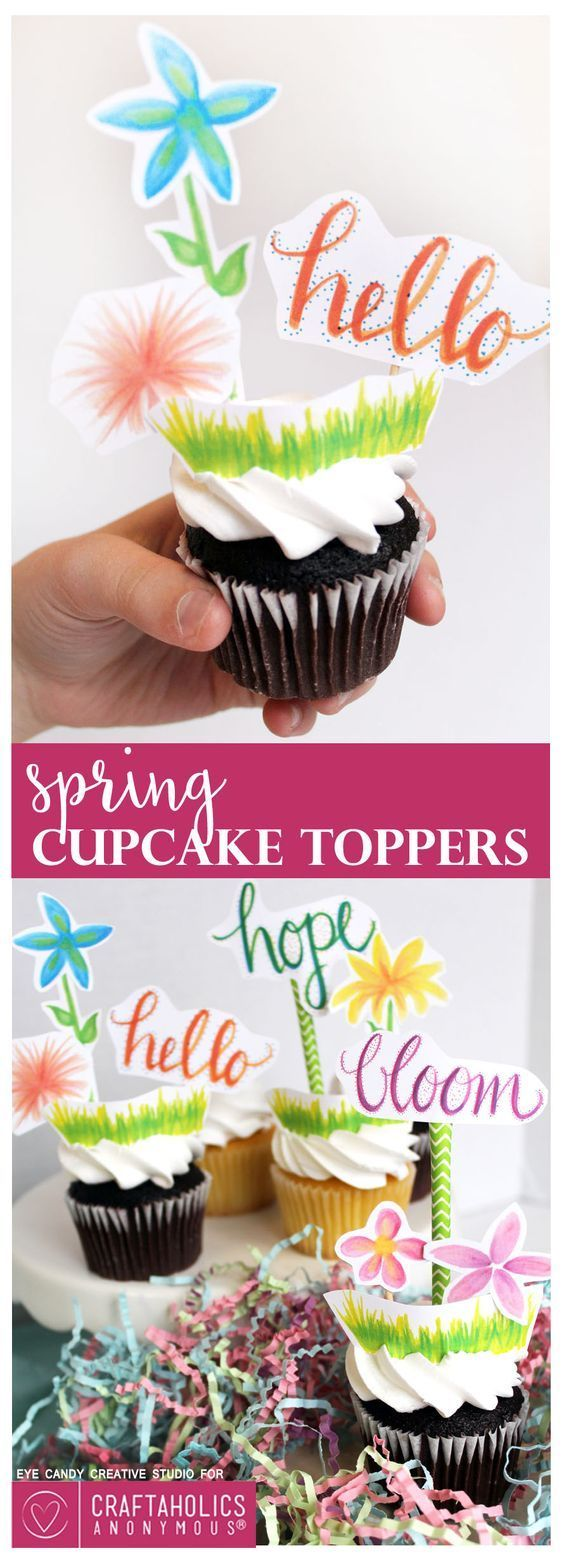 Everything needs decor, make your cupcake recipe even better with this topper idea! Use for a wedding, or a gift.