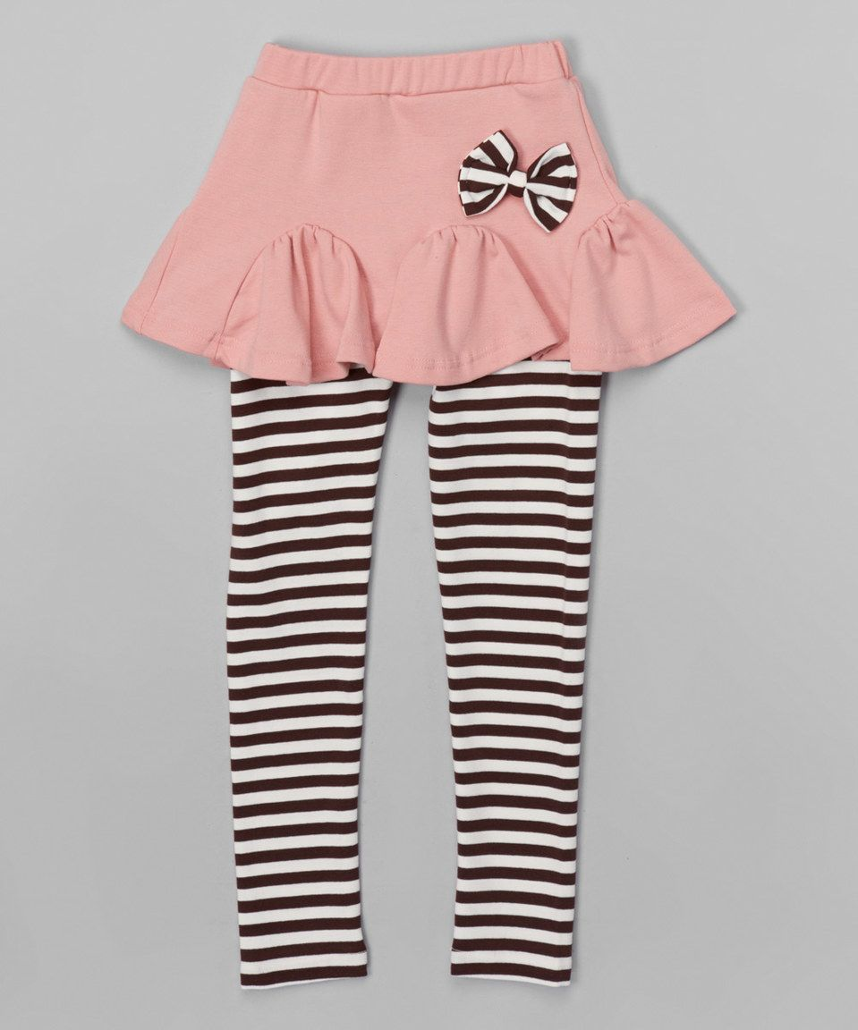 9e5f1409566d9 Loving this Funkyberry Pink Stripe Skirted Leggings - Toddler & Girls on  #zulily! #zulilyfinds