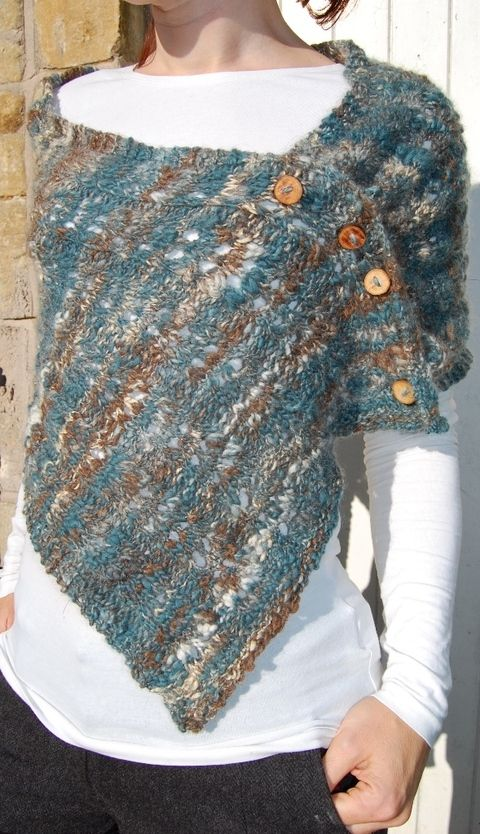 Elizabeth Felgate Designs -  - Polymath - a scarf, wrap, cowl and hood in one ($5 at PatternFish)