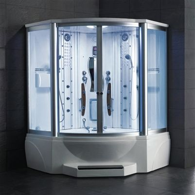 With Clear Glass Steam Shower Enclosure Shower Enclosure