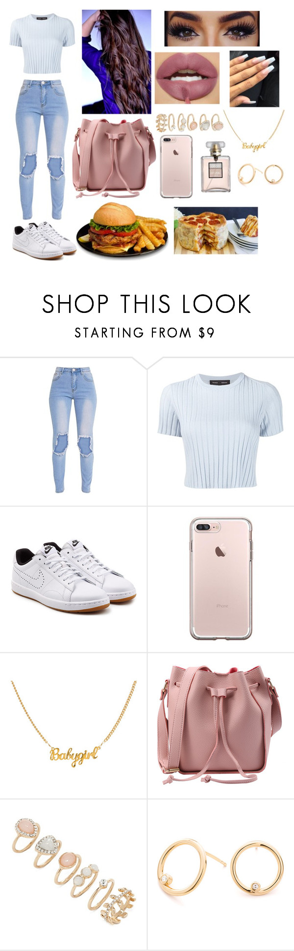 """""""Lunch"""" by jakaya1 ❤ liked on Polyvore featuring Proenza Schouler, NIKE and Forever 21"""