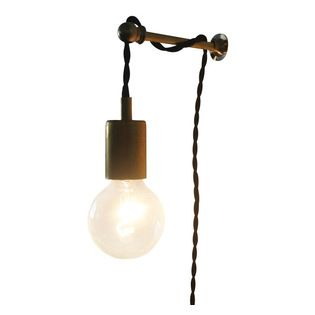 Brass Rod Bracket For Wall Mounting Bare Bulb Pendant Lights Idea For The Corner In The Lounge Twi Pendent Lighting Bulb Pendant Light Hanging Pendant Lights