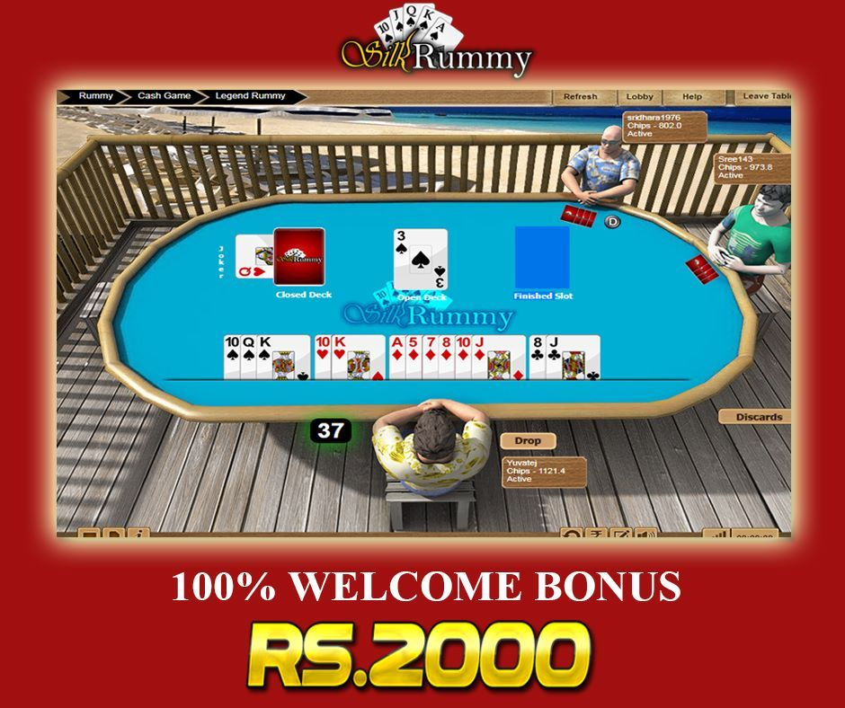 Play Rummy , With Rs.2000 Free Bonus at Silkrummy. Play