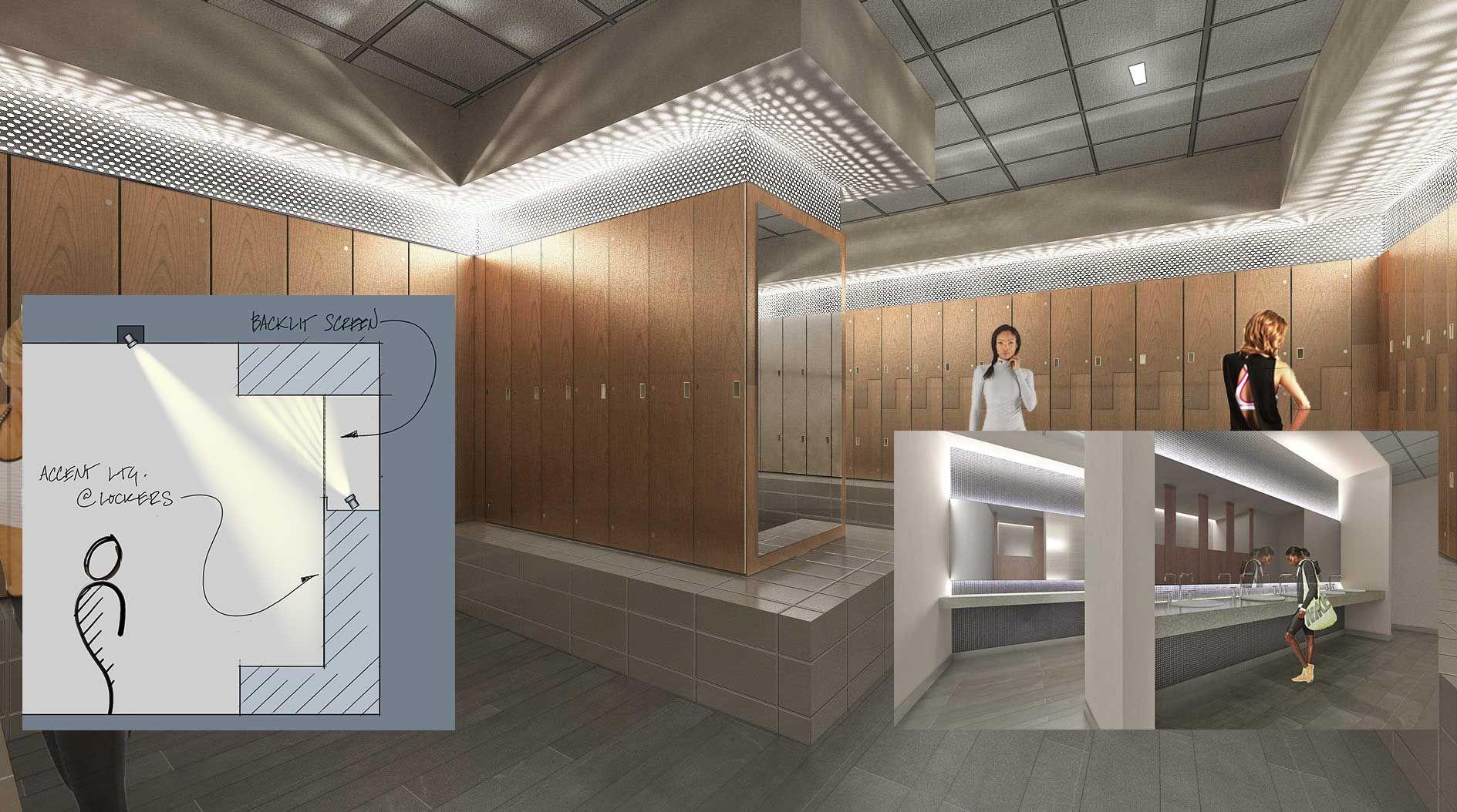 Locker room lighting lighting ideas for Dressing room lighting ideas