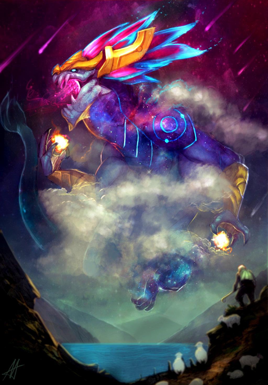 Lol League Of Legends Fan Art Wallpaper Campeões Aurelion Sol