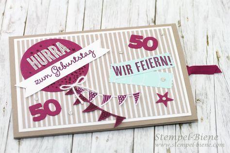 Photo of Ziehkarte zum 50. Geburtstag (mit Anleitung)