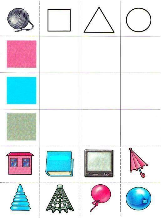 Autismus Arbeitsmaterial: Formen und Farben | matematyka | Pinterest ...