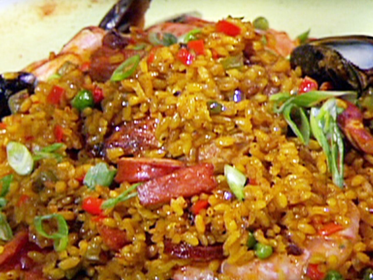 Plantain stuffing recipe paella grilling and recipes grilled paella mixta recipe from emeril lagasse via food network forumfinder Images