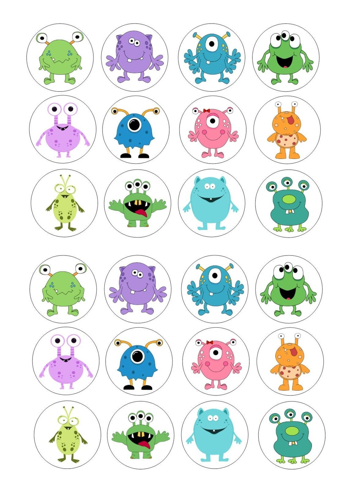 24 Icing Cupcake Cake Toppers Decorations Edible Cute