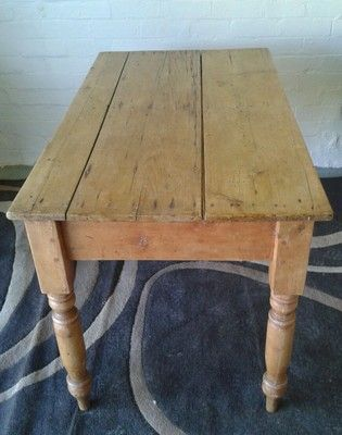 Old Farmhouse Antique Pine Kitchen Table Hall Table Cottage   Shabby Chic    EBay