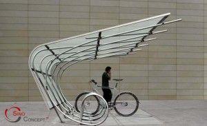 Fahrradgarage Flügeldesign