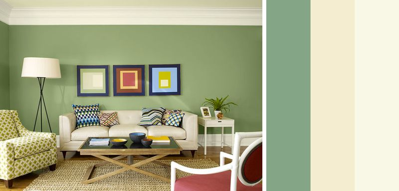 Salotto idee casa paredes pintadas de verde comedor for Colori pareti salotto moderno