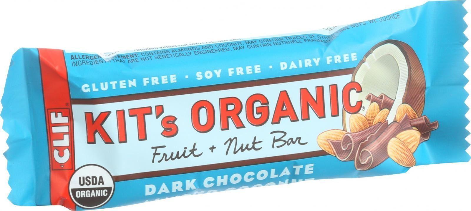 Clif Kit's Organic Fruit And Nut Bar - Dark Chocolate Almond Coconut - Case Of 12 - 1.69 Oz Bars