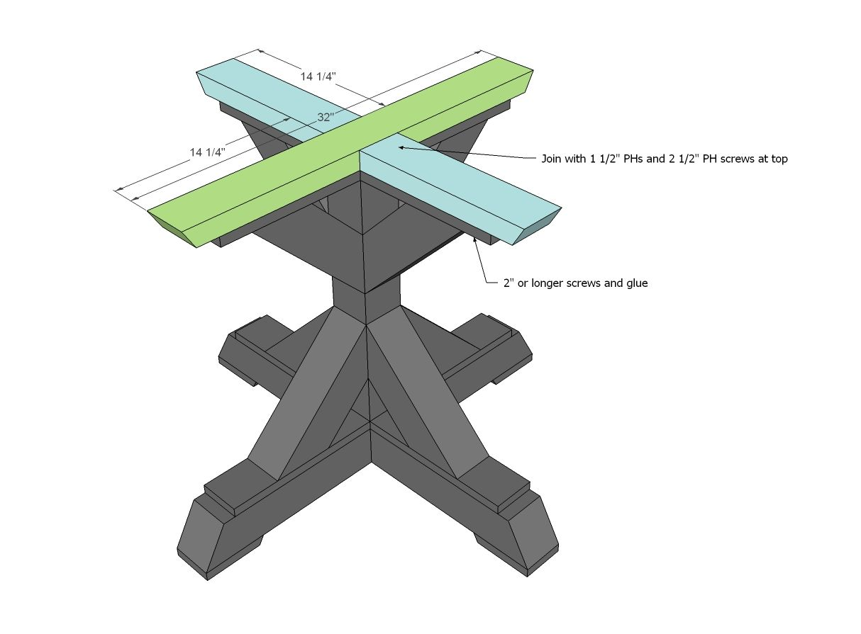 Square Pedestal Kitchen Table Ana White Build A Square Pedestal Table Free And Easy Diy