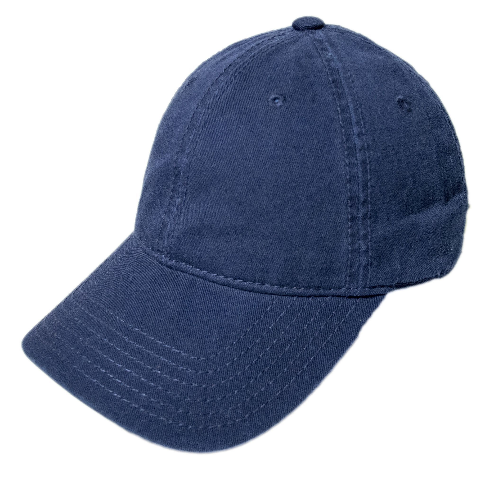 Blank Adjustable Curved Visor Strapback Hat made from 100% Heavy Washed  Cotton. One size fits most. Made with metal strap closure. (See
