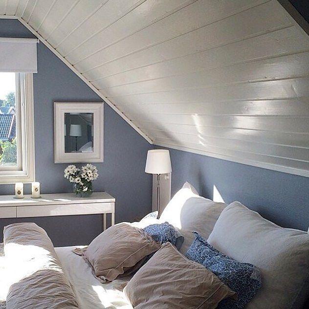 """Photo of Vibeke Hennum på Instagram: """"Ønsker å male soverommet mitt blått Vil du male b …"""