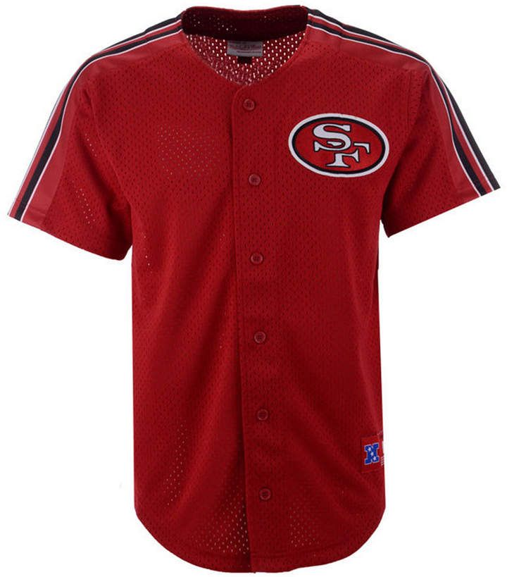 c08a5cce715 Mitchell & Ness Men's San Francisco 49ers Winning Team Mesh Button Front  Jersey