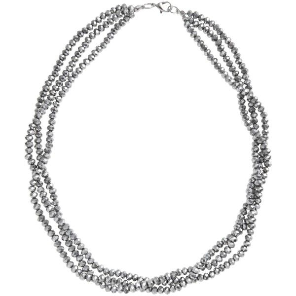 John Lewis Three Row Sparkle Necklace , Silver ($14) ❤ liked on Polyvore featuring jewelry, necklaces, silver, silver jewellery, bead necklace, sparkle jewelry, john lewis jewelry and beading jewelry
