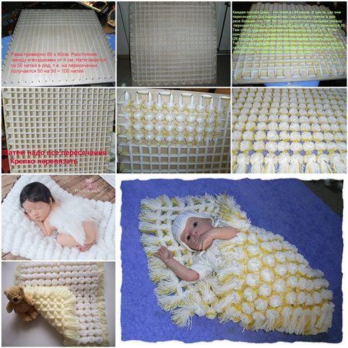 DIY Snuggly baby Pom Pom Blanket | Blanket, Diy baby and Babies