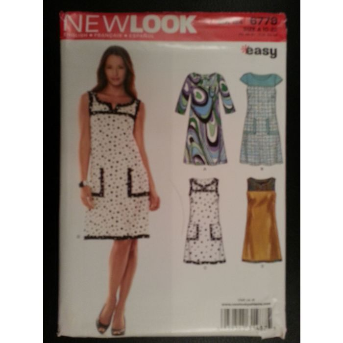 New Look 6779 Misses Pullover Dresses sewing pattern sizes 10-12-14 ...