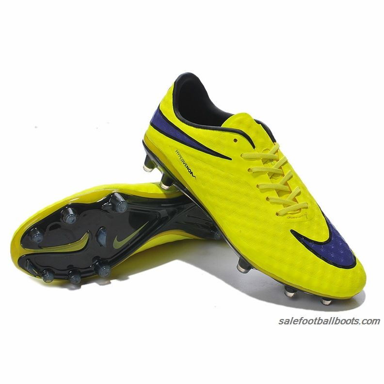 Nike Hypervenom Phantom Premium FG Fluorescent Yellow Blue $63.99