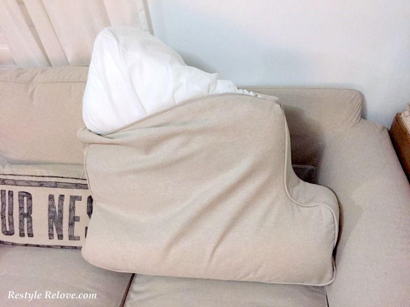 Updated How To Restuff Ikea Ektrop Sofa Back Cushions Sofa Back Cushions Ikea Ektorp Sofa Cushions On Sofa