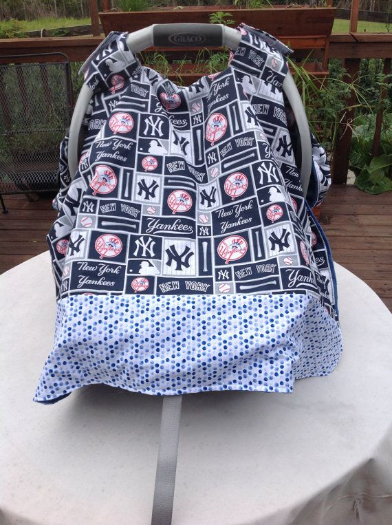 New York Yankees Inspired  Infant Seat Canopy/Car by quiltsbykym