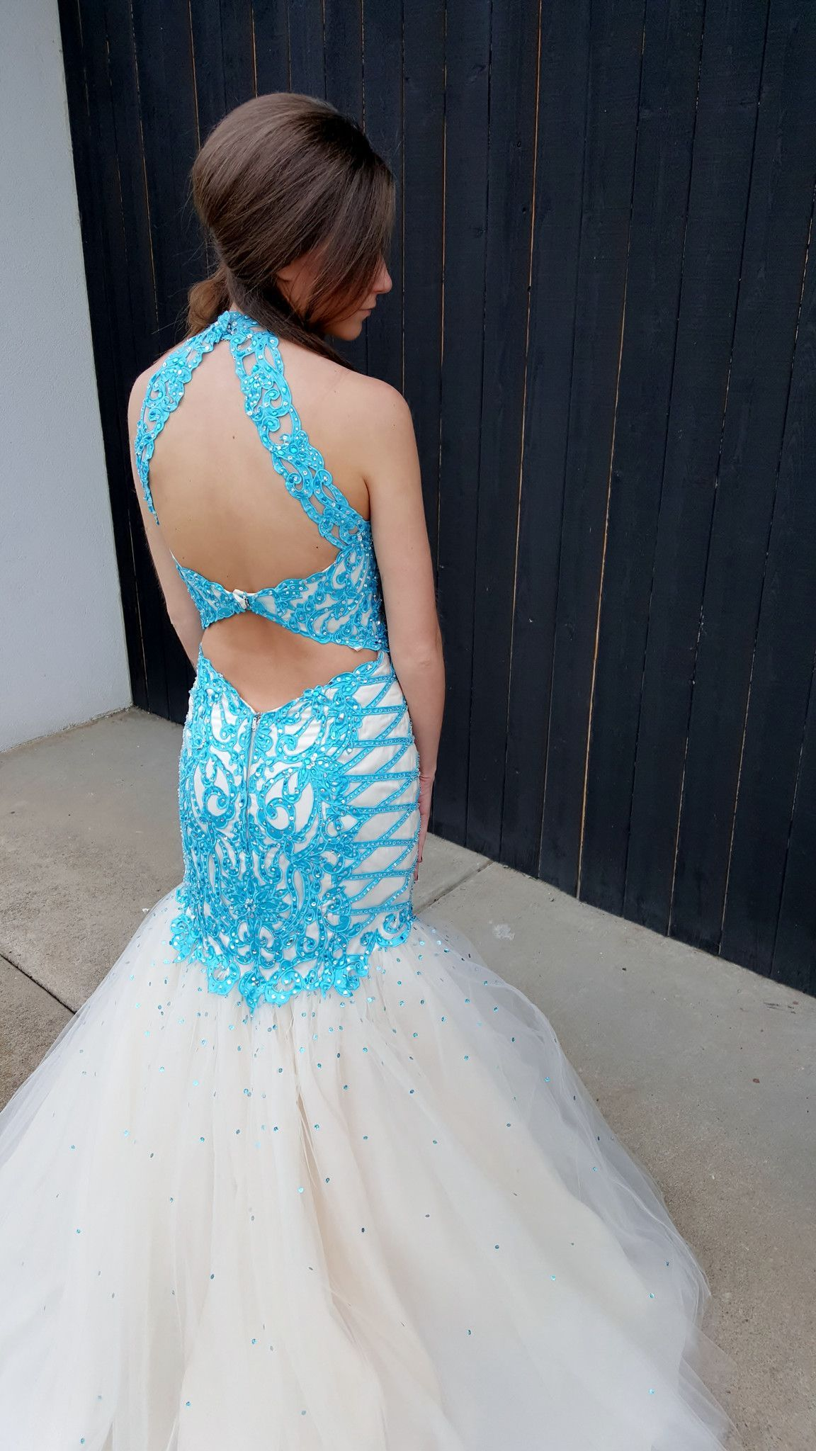 High Neck Low Back Prom Dress | My style | Pinterest | Prom ...